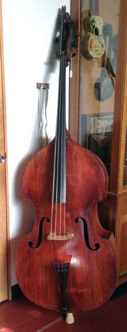 Upright Bass (unlabelled)   - formerly owned  by jazz bassist Teddy Kotick,  c. 1900
